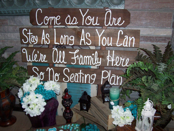 Wedding Signs Come As You Are Huge Rustic Wooden Beach Decorations No Seating Plan Country Farm Signage Outdoor Reclaimed Decor