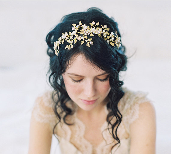 Mariage - Wedding hair accessories, wedding crown Wood Nymph - Style no. 2048