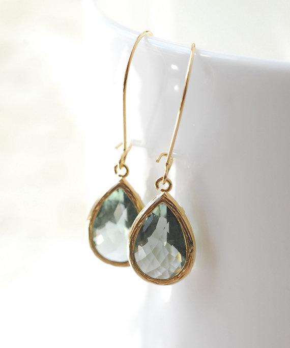 Свадьба - Gray Jewelry Bridesmaid Gifts Bridal Jewelry Drop Earrings Dangle Earrings Jewelry Bridal Accessories Grey Bridesmaid Set Limon Bijoux