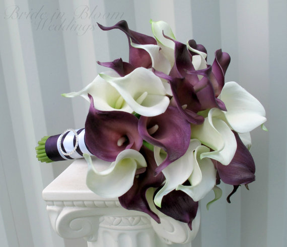 Calla Lily Wedding Bouquet Bridal Bouquet Real Touch Calla Lilies
