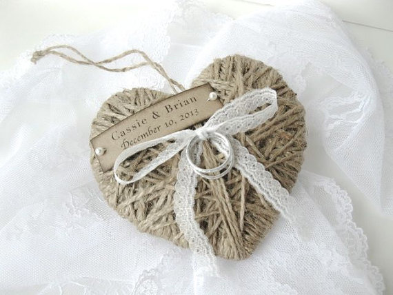 Wedding Ring Pillow Holder Reuse As Christmas Ornament