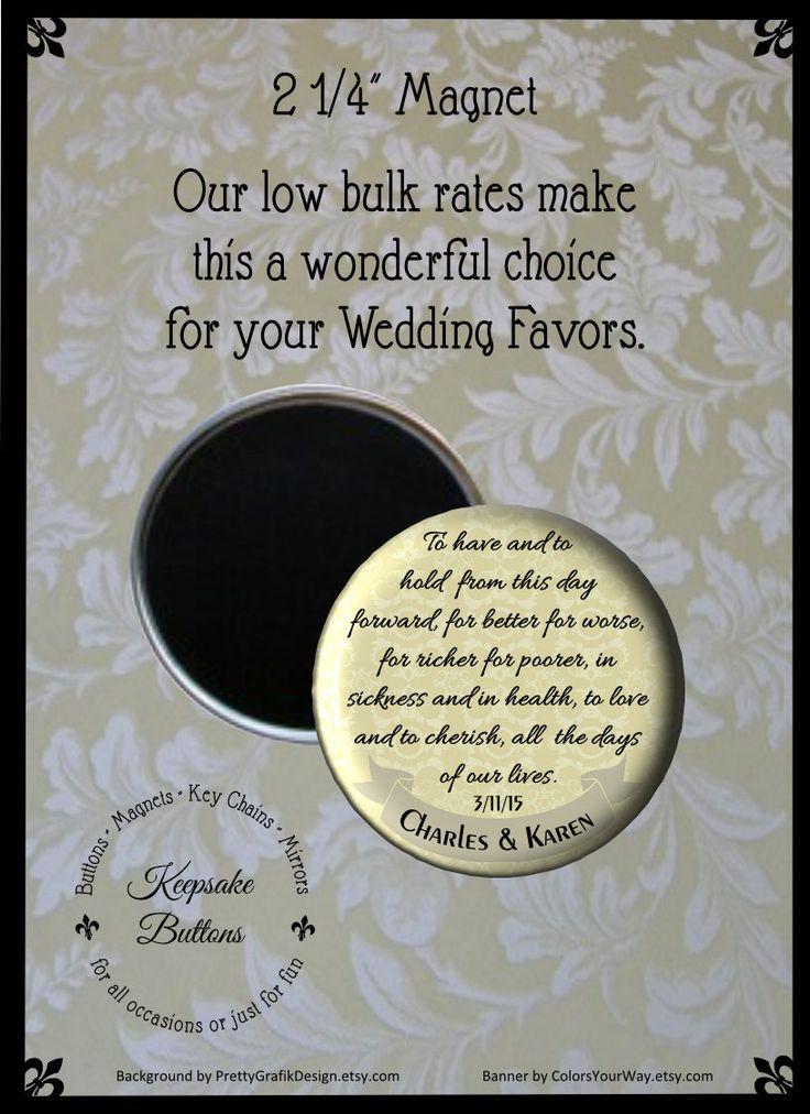 2 25 custom wedding magnet wedding favors wedding vow magnets