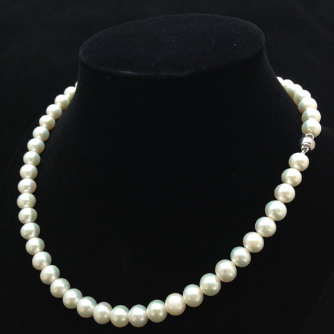 Hochzeit - 16 Inches Genuine Pearl Necklace, AA  Pearl Necklace, Genuine Pearl Necklace, Free 7mm AAA Pearl Studs from ADARNA GALLERY