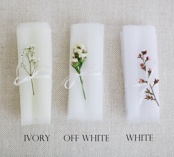 Mariage - Traditonal soft nylon tulle bridal veil color swatches