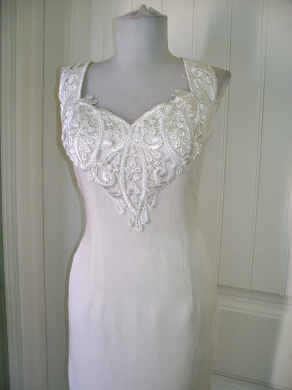 Vintage 1980s Jessica McClintock Wedding Dress With Small Train ...