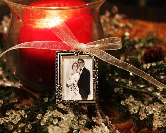 Свадьба - Bridal Bouquet Charm Photo Memory necklace Wedding  Keepsake Mom gift Grandmom gift Pet memorial necklace Military Memorial jewelry