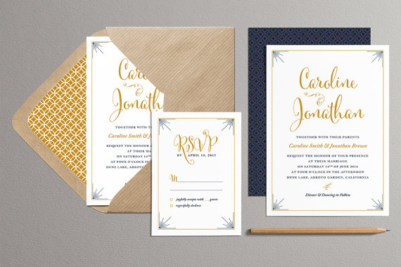 custom color printable wedding invitation and rsvp card