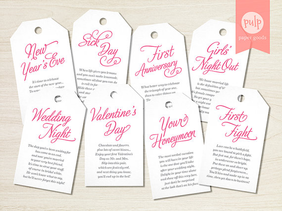 DIGITAL FILE Panty Tags With Poems Lingerie Shower Or Bachelorette Party Gift Set Bridal From Bridesmaids