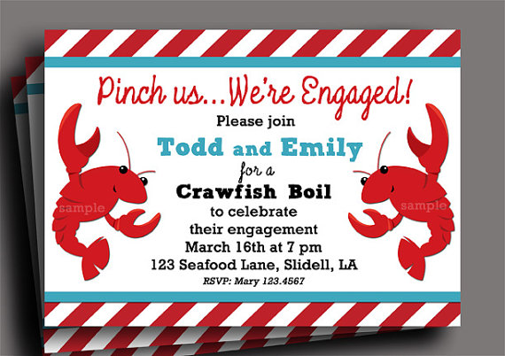 Crawfish boil invitation printable engagement anniversary crawfish boil invitation printable engagement anniversary birthday someone pinch me stopboris Choice Image