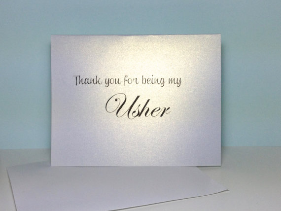 Hochzeit - Usher Thank You Card, Wedding Usher Thank You, Thank You For Being My Usher Wedding Card, Usher, Flower Girl, Ring Bearer Card
