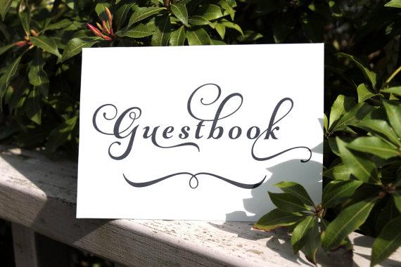 Wedding - Guestbook Wedding Signage INSTANT DOWNLOAD, Wedding Reception DIY, Printable, Reception Table Cards