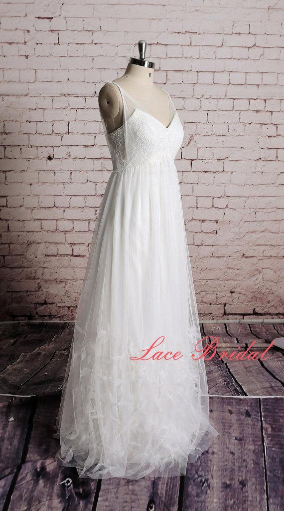 Nozze - Custom,Wedding Gown, Classic Lace Bridal Gown, Transparent Train Wedding Dress, Wedding Dress,Wedding Gown