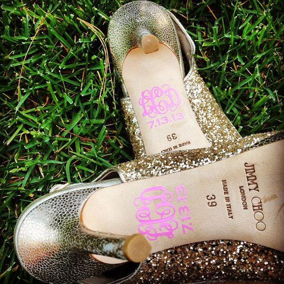 Свадьба - Set of Two Wedding Shoe Monograms