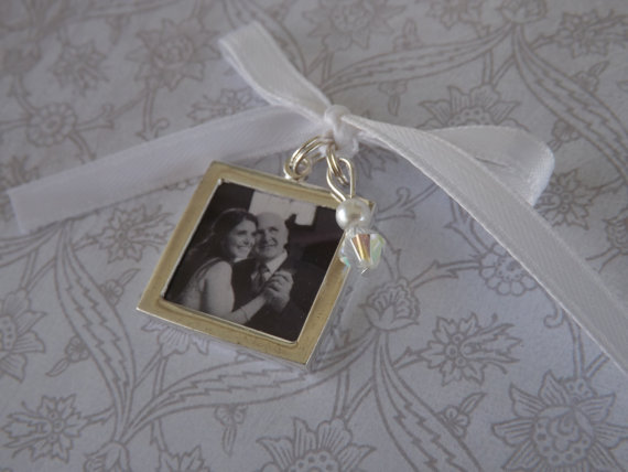 Mariage - Wedding Bouquet Photo Charm -Double Sided- PICTURE PRINTING INCLUDED