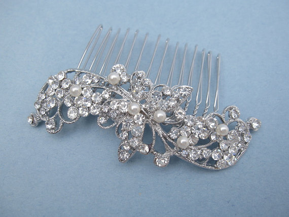 Mariage - Wedding hair comb pearl bridal hair comb wedding hair accessories bridal headpiece wedding comb bridal hair jewelry wedding accessories