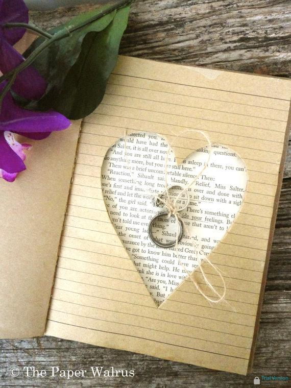 Mariage - Ring Bearer Pillow Book 5 x 7 - Rustic Weddings - Alternative Ring Pillow - (RB-19)
