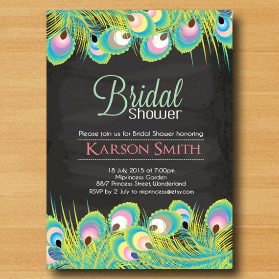 vintage shower side bridal feather corrals lake this invitation peacock wedding invitations with rustic