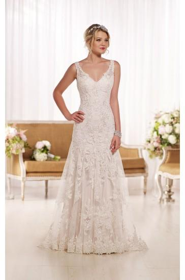 Essense Of Australia Lace A Line Wedding Dress Style D1771