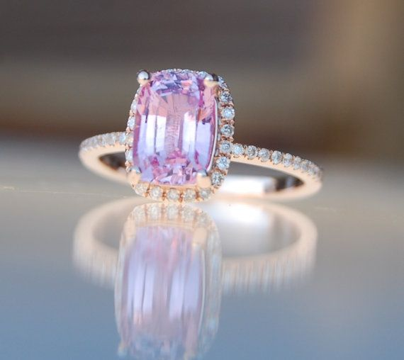 lavender rose by ring rings cushion peach gold media sapphire eidelprecious engagement diamond purple