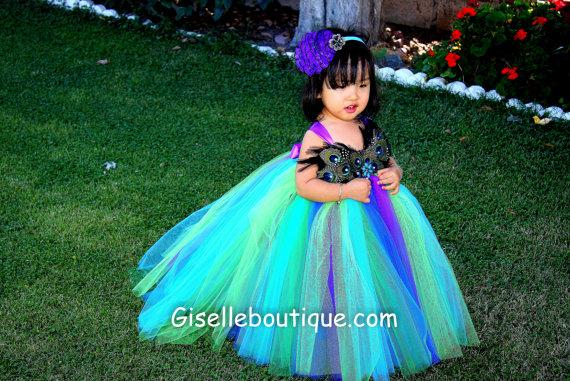 9de7032a3 Flower girl dress Peacock Feather Series III TuTu Dress .baby tutu dress,  toddler tutu dress, wedding, birthday, Newborn, 2t,3t,4t,5t