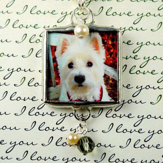 زفاف - Pet Photo Charm for Bridal Bouquet Charm or Boutonniere Pin