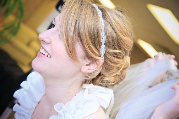 Hochzeit - Bridal headband,  rhinestone headband,  headband, crystal headband, hair accessory,  wedding headpiece, bridal accessories, weddings, hair