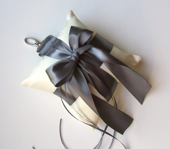 Mariage - Custom Order for hobokenchip...2 RS Satin Pet Ring Pillows ..