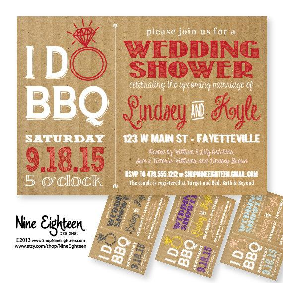 i do bbq wedding shower barbeque bridal shower custom printable pdfjpg invitation i design you print made to match add ons available
