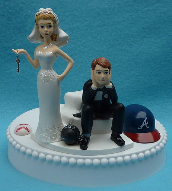 Ball And Chain Wedding Cake Decoration