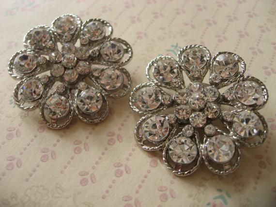 Hochzeit - Bling sparkle sweet flower wedding Swarovski rhinestone crystal bridal bridesmaids shoes clips