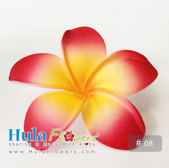 زفاف - Hawaii Plumeria 3 inches Hair Clip For Hawaiian, Polynesian, Wedding, Beach Party Hair Accessories