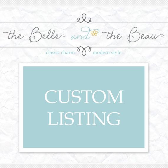 زفاف - Custom Order- Reserved for special customer Samantha