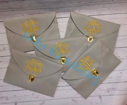 Mariage - Set of (5) Monogrammed Clutch Purse/ - Wedding Party