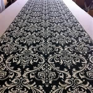 زفاف - Special of the week Black and White Damask Aisle runner