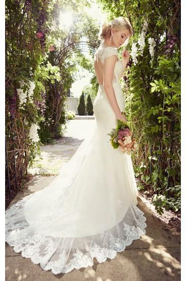 Düğün - Essense of Australia CAP SLEEVE WEDDING DRESSES STYLE D1845