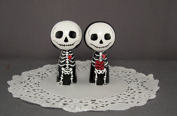 Wedding - Skeleton Wedding Toppers