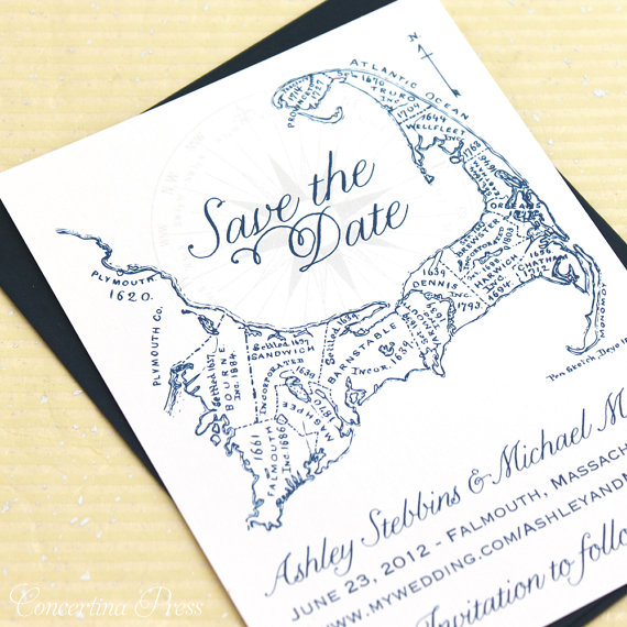 Mariage - Deposit listing for Melissa - Navy Cape Cod Rehearsal Dinner Invites