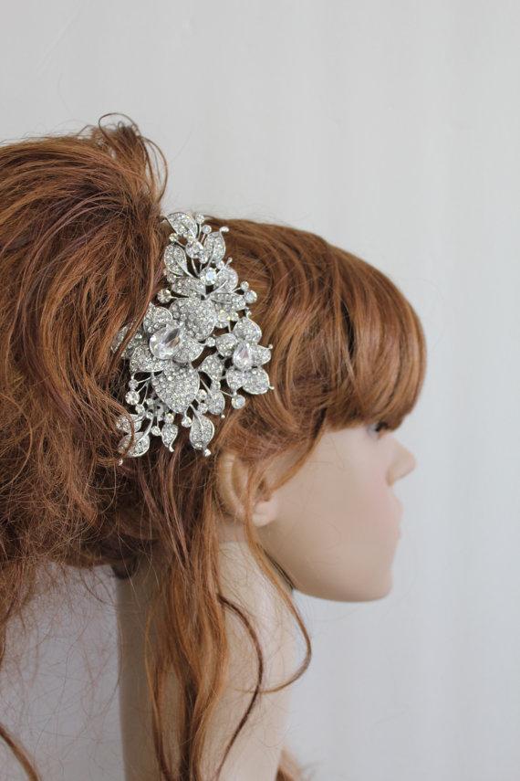 Mariage - Bridal hair comb wedding hair accessory bridal hair jewelry wedding hair comb Rhinestone bridal comb wedding accessory bridal headpiece comb