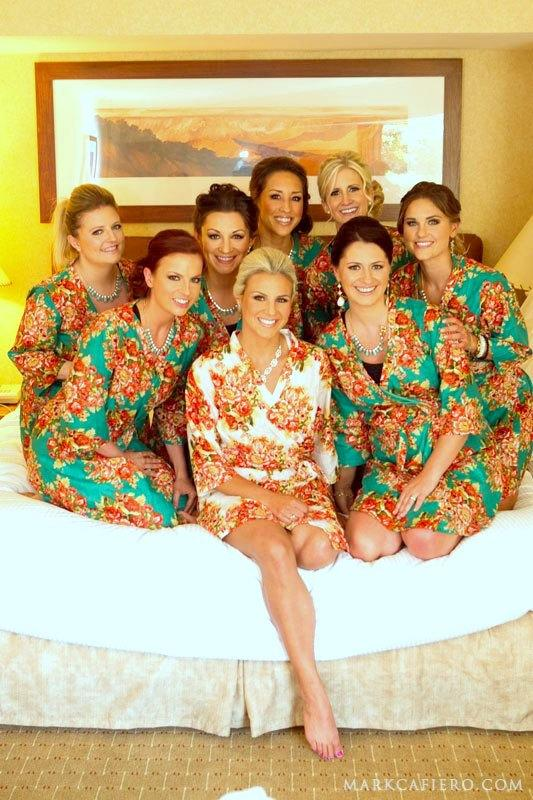 Bridesmaids Robes Set Of 8 Kimono Crossover Robe Spa Wrap ...
