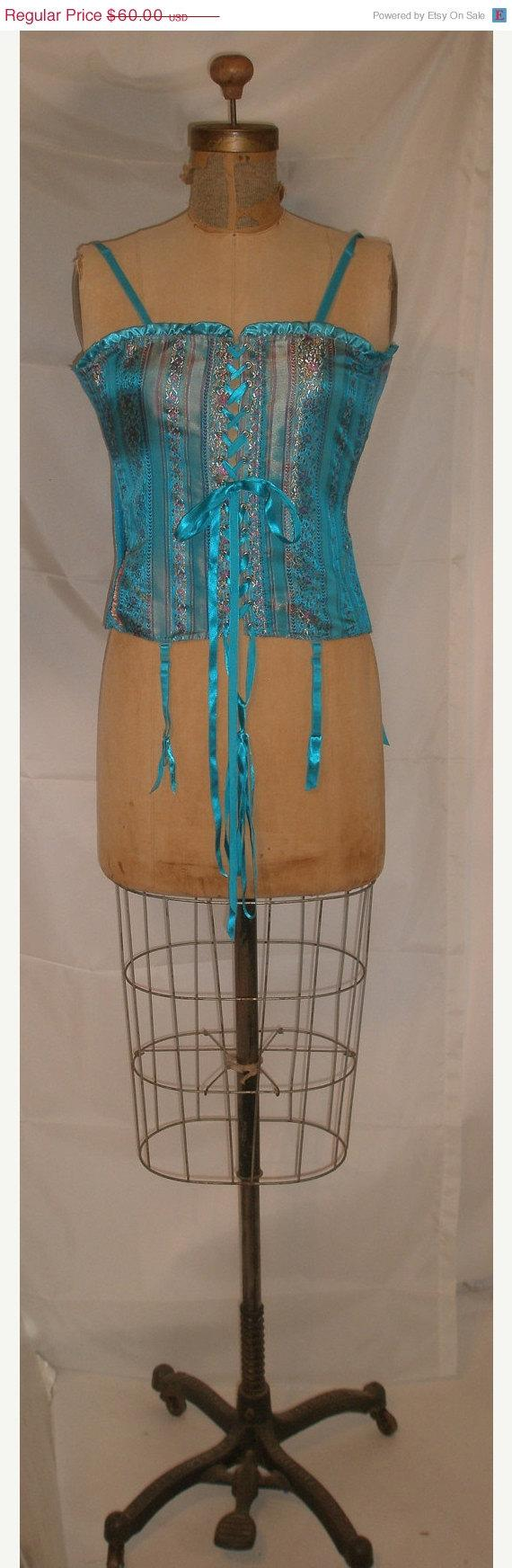 Mariage - WINTER CLEARANCE SALE Great Corset-Bustier-Fredericks of Hollywood-Medium-36 Bust-Size 4-Pin Up-Burlesque