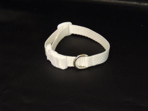 """زفاف - X Small White Wedding Collar 6 - 8 """""""