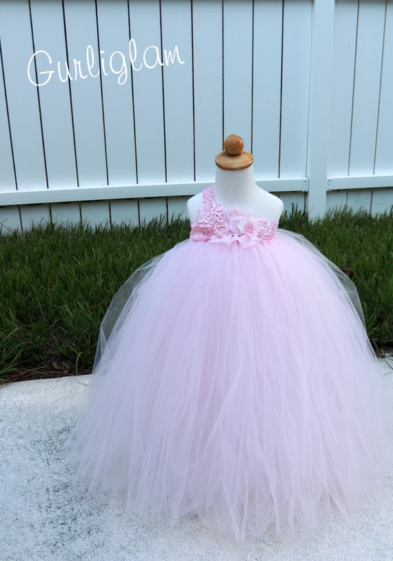 77fe70ca3 Light Pink Vintage flower girl tutu dress, Flower Girl Dress, blushing pink  Flower girl dress, tutu dress