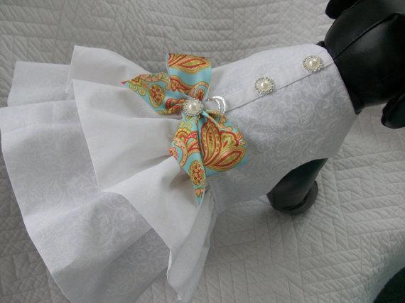 Mariage - Wedding Dog Dress Custom Made