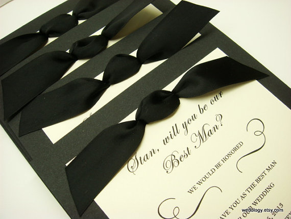 groomsman invitation will you be my best man man of honor ring