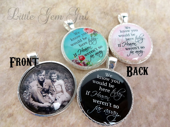 Wedding Bouquet Photo Memorial Charm