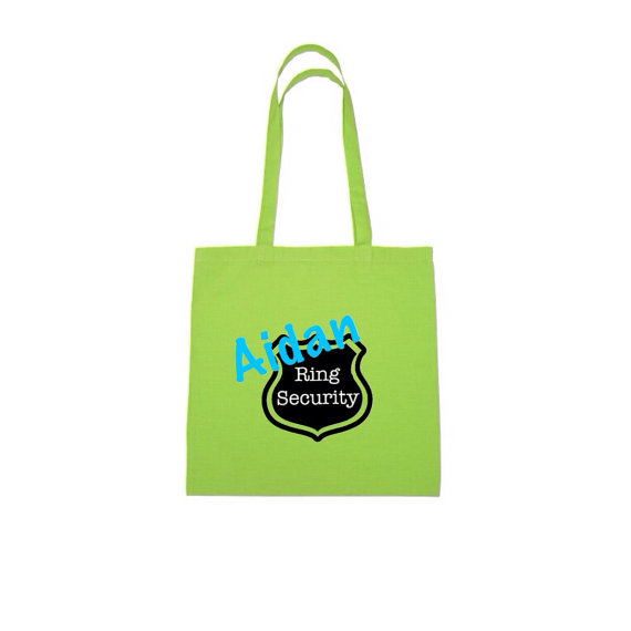 Свадьба - Personalized Ring Bearer Tote Bag - 100% cotton - Personalized Tote, Shopping Bag, Beach Wedding, Ring Bearer Bag, Wedding Tote