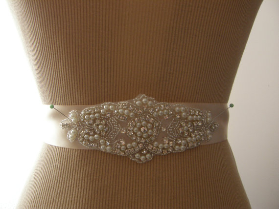 Wedding - SALE / Wedding Belt, Bridal Belt, Bridesmaid Belt, Sash Belt, Wedding Sash, Bridal Sash, Belt, Crystal Rhinestone & Pearl