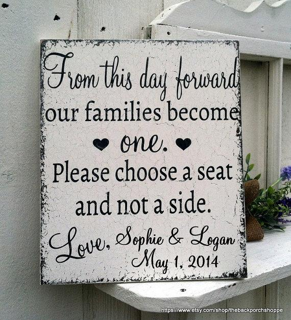 custom personalized from this day forward no seating plan