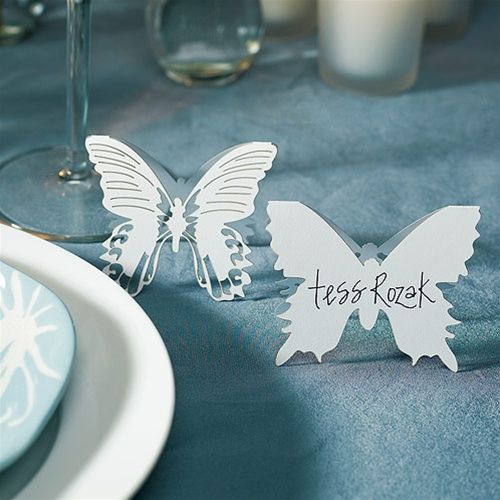 Mariage - Laser Expressions Butterfly Folded Place Card (Set Of 4)