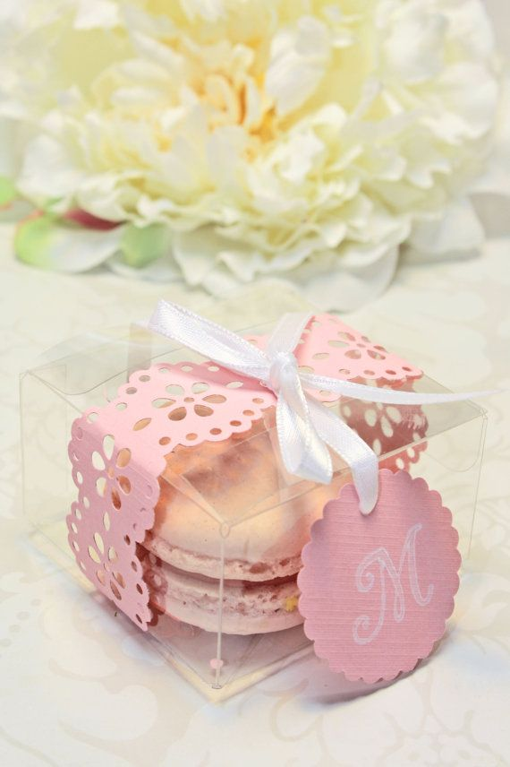 Mariage - Shower Favors - French Macaron, Favor Boxes - Set Of 30 Favor Boxes - Bridal Or Wedding Favors